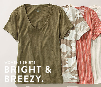 Women's Shirts. Bright & Breezy.