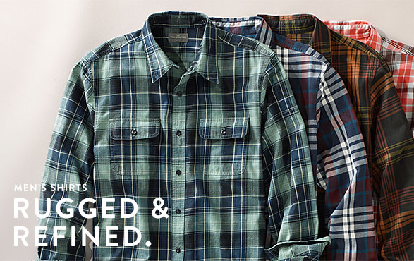 Men's Shirts. Rugged and Refined.