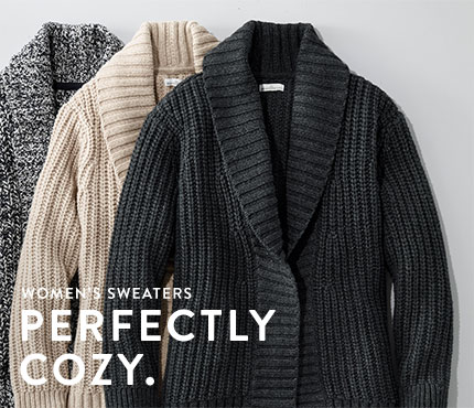 Women's Sweaters. Perfectly Cozy.