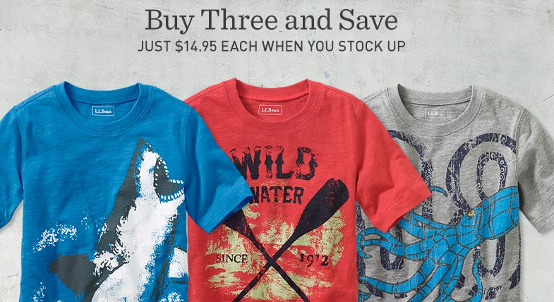 Buy Three and Save. Just $14.95 each when you stock up.