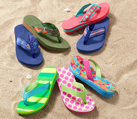 Colorful Maine Isle Flip-Flops.