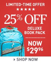 Limited-Time Offer. 25% off Deluxe Book Pack. Now $29.96.