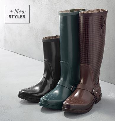 Hunter Wellies and Bean duck boots