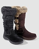 Two styles of Women's shearling-lined boots.