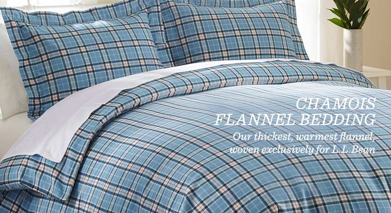 Chamois Flannel Bedding: Our thickest, warmest flannel, woven exclusively for L.L.Bean.