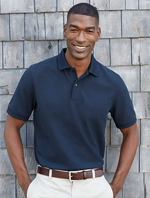 Man in Double L Polo.