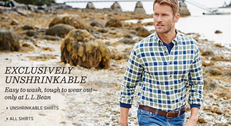Exclusively Unshrinkable: Easy to wash, tough to wear out – only at L.L.Bean.