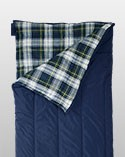 Blue camp sleeping bag.