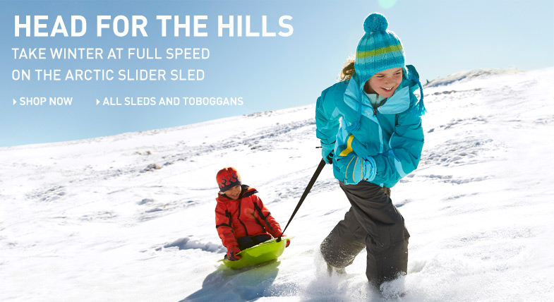 Head for the hills: take winter at full speed on the Arctic Slider Sled.