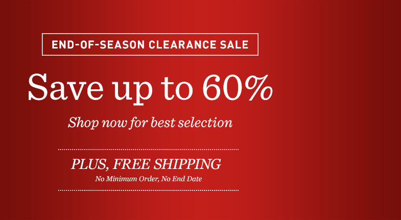 End-Of-Season Clearance Sale: Save up to 60%. Shop Now for Best Selection. Plus, Free Shipping.