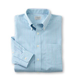 Men's Wrinkle-Free Pinpoint Tattersal Oxford Shirt.