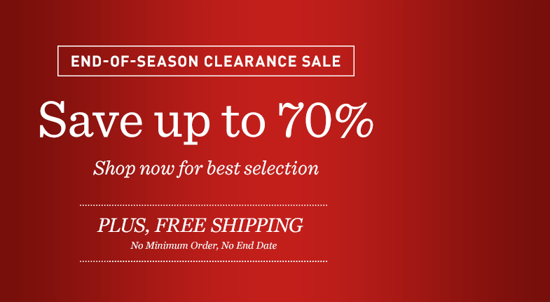 End-Of-Season Clearance Sale: Save up to 70%. Shop Now for Best Selection. Plus, Free Shipping.