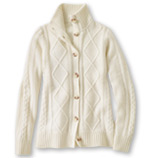 Women's Vintage Cable Cardigan.