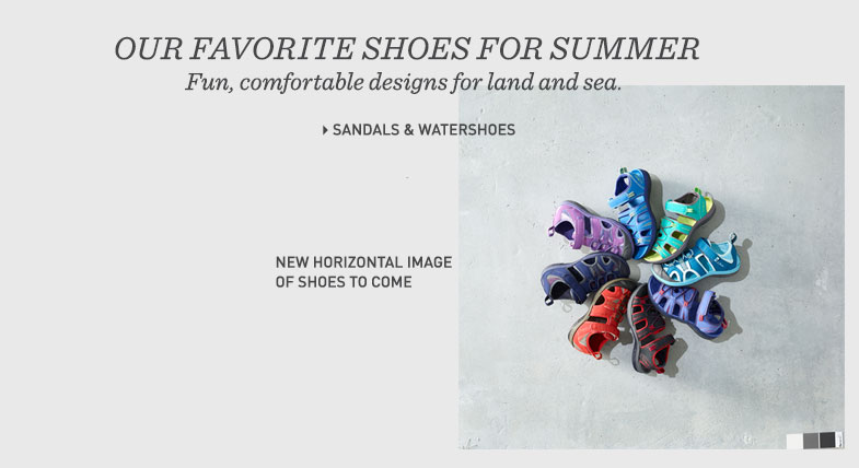 Our Favorite Shoes for Summer Fun, comfortable designs for land and sea.
