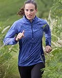 Woman running in an active top.