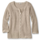 Women's Pointelle Stitch Cardigan.