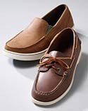 Pair of slip-on casual shoes.