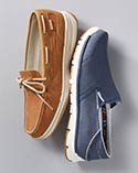 Pair of women's slip-on casual shoes.