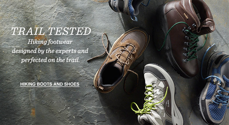 TRAIL TESTED: Hiking footwear designed by the experts and perfected on the trail.