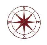 Metal Compass Rose.