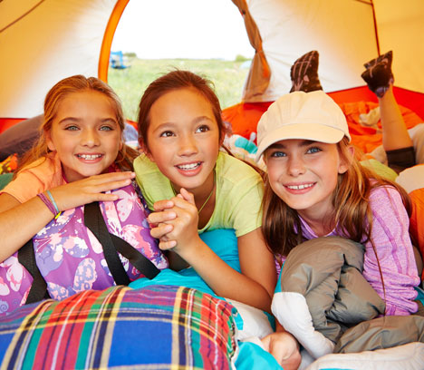 Kids in Tent.