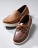 Pair of slip-on moccasins.