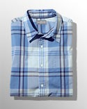Blue plaid Signature Collection shirt.