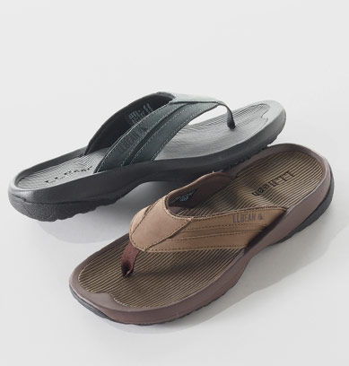 Pair of slip-on sandals.
