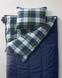 Blue flannel-lined Camp Sleeping Bag.