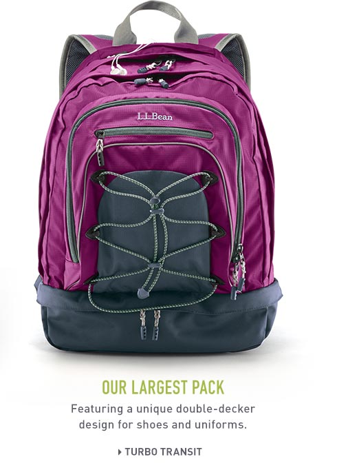 Turbo Transit Pack. Our biggest pack in purple with modern design and side handle.