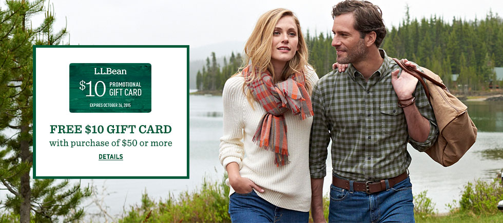 FREE $10 GIFT CARD with purchase of $50 or more. Details.