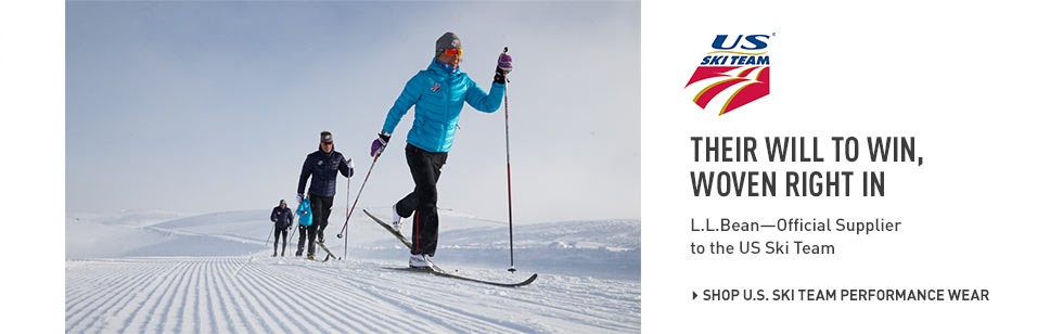 Their will to win, woven right in. L.L.Bean, the official supplier to the US Ski Team.