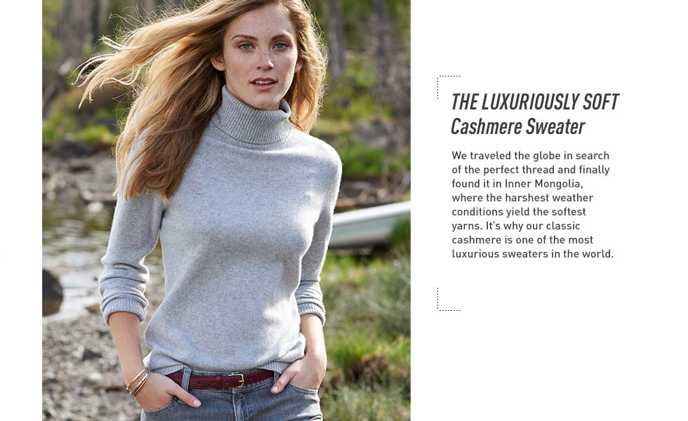 The luxuriously soft cashmere sweater. We traveled the globe in search of the perfect thread, and found it in Inner Mongolia.