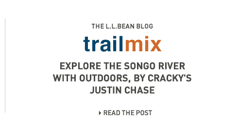 Trailmix. The L.L.Bean Blog. Explore the Songo River with Outdoors, by Cracky's Justin Chase.