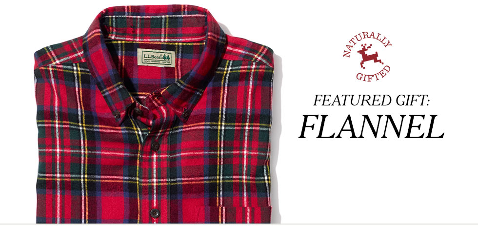 Featured gift: flannel.