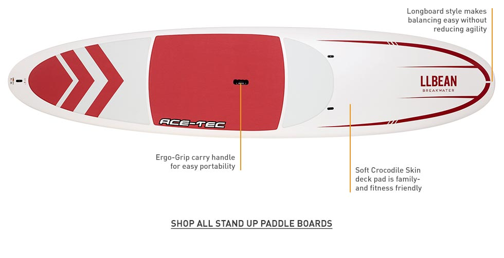 Longboard style for easy balancing and agility. Ergo-Grip carry handle. Soft Crocodile Skin deck pad.