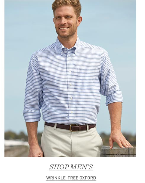 Man in Wrinkle-Free Oxford Shirt.