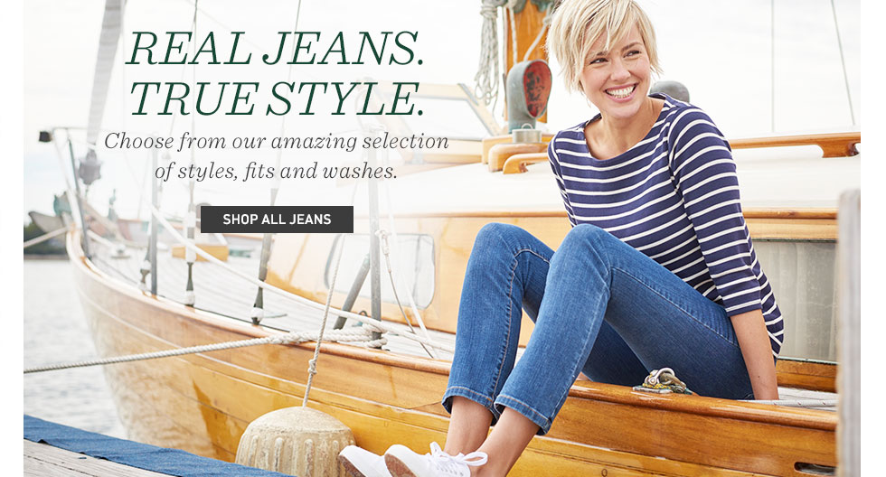 Real jeans. True style. Choose from our amazing selection of styles, fits and washes.