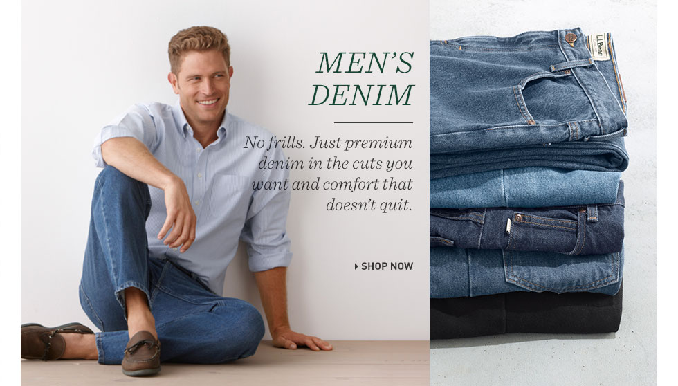 Men's Denim. No frills. Just premium denim in the cuts you want and comfort that doesn't quit.