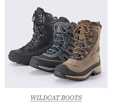 Three styles of Wildcat Boots.