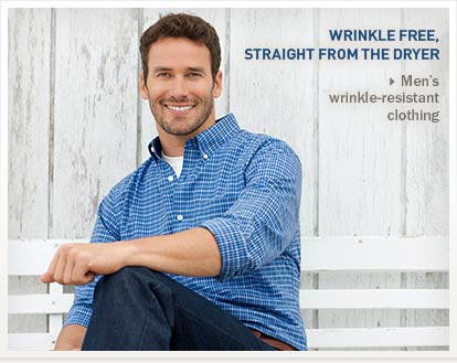 Wrinkle Free, Straight from the Dryer.