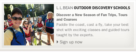 L.L.Bean Outdoor Discovery Schools. Discover a New Season of Fun Trips, Tours and Courses Paddle the coast, cast a fly, take your best shot with exciting classes and guided tours taught by the experts.