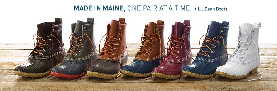 L.L. Bean Boots, Made in Maine, one pair at a time.