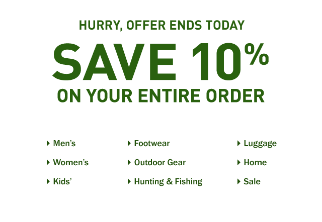 Save 15% on your entire order with your L.L.Bean Visa Card. Offer ends September 1