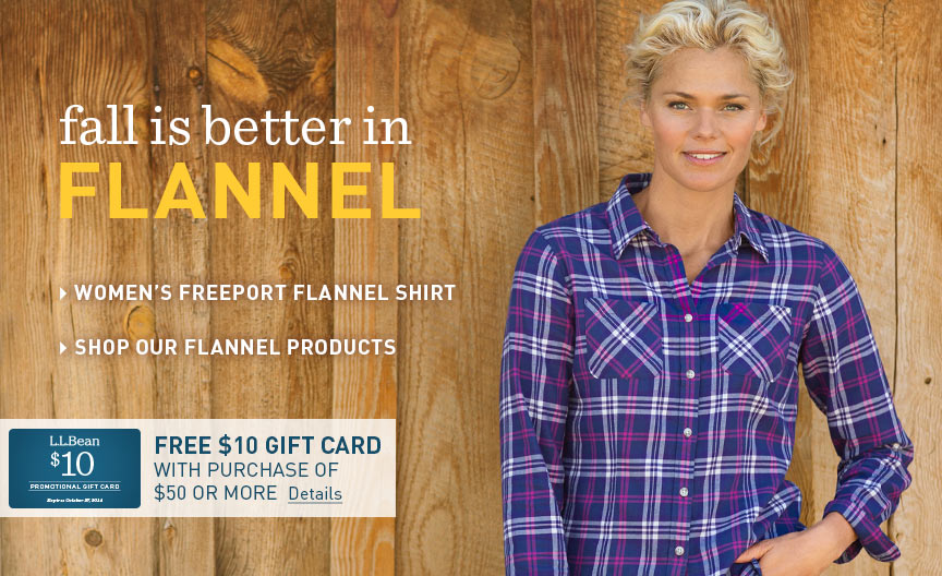 Women's Flannel: Fall is better in flannel at L.L. Bean