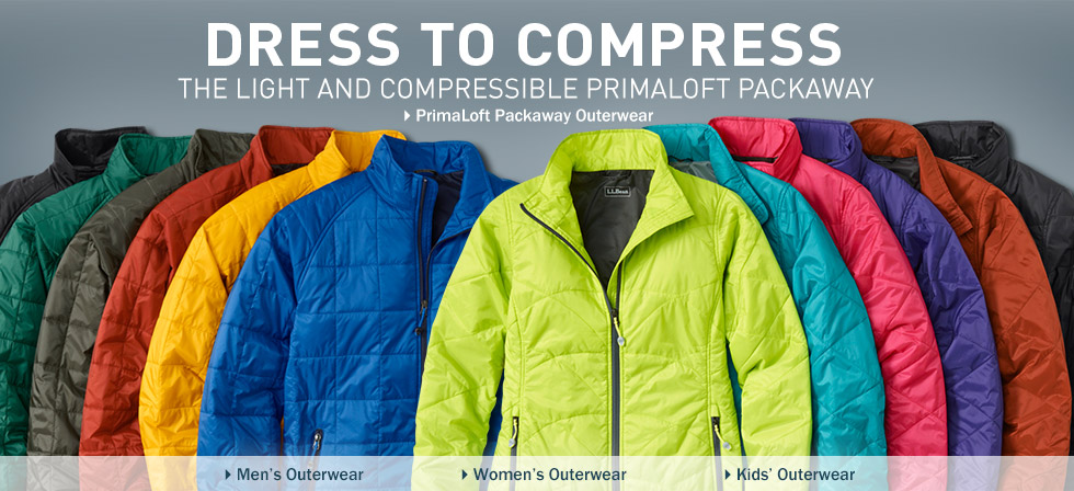 You've never packed this light. The incredible, compressible PrimaLoft Packaway at L.L.Bean.
