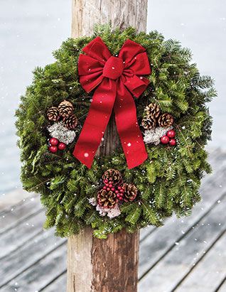 Bring Home the Holidays. Christmas Wreaths and Decorations from L.L.Bean.