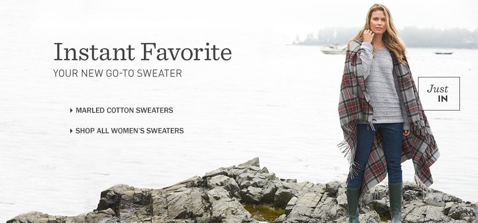 Instant favorite: your new go-to sweater. L.L.Bean Women's Marled Cotton Sweaters.
