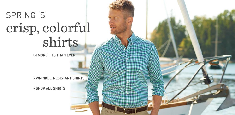 Shop Men's wrinkle-resistant shirts at L.L.Bean