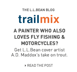 A painter who also loves fly fishing and motor cycles